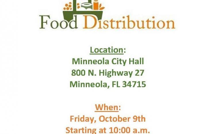 Free Food Distribution Event Flyer