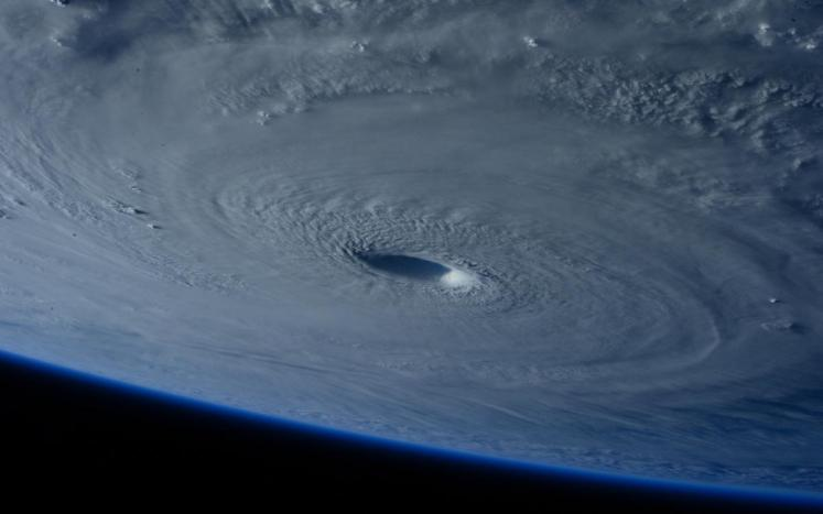 Photograph of a Hurricane Taken from Space Courtesy of N.A.S.A.
